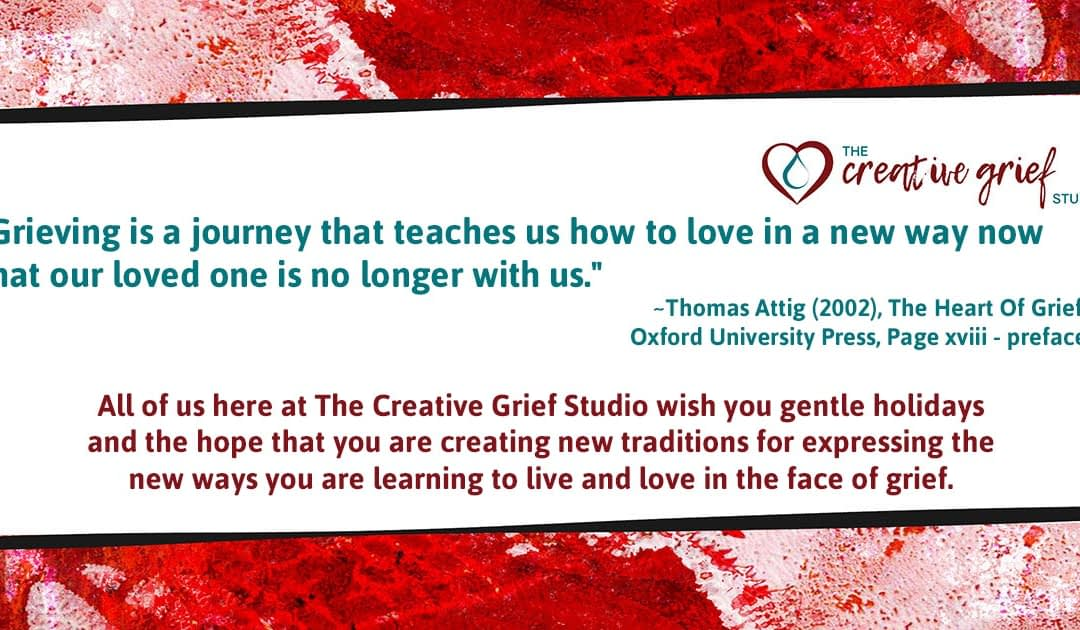 Holiday wishes from The Creative Grief Studio