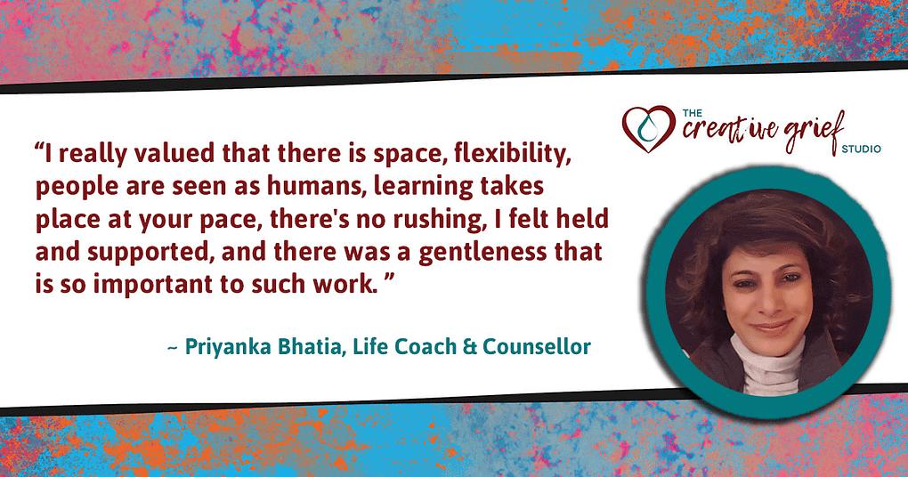 Priyanka Bhatia Online Learning Testimonial