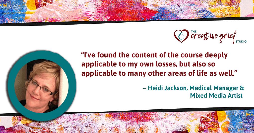 Heidi Jackson online learning testimonial